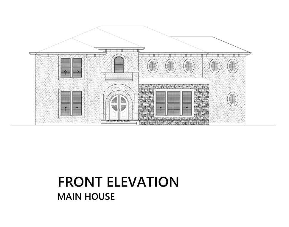 Mediterranean House Plan 81941 with 4 Beds, 5 Baths Picture 4