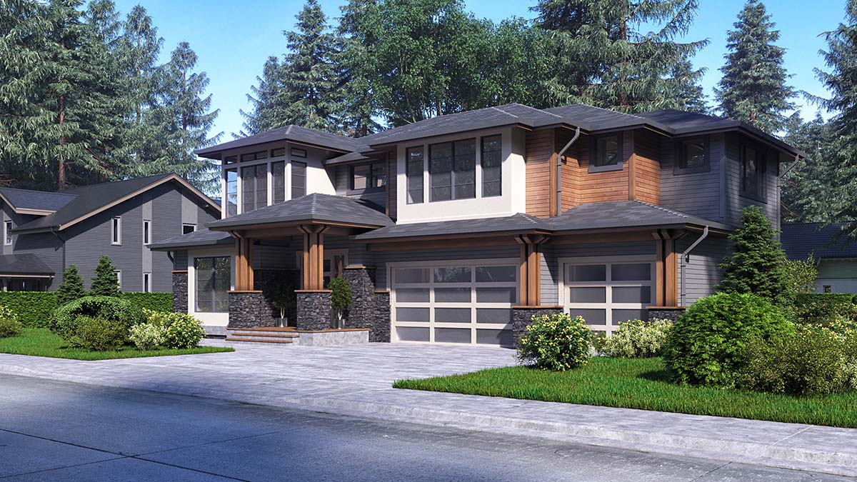 Contemporary, Modern House Plan 81942 with 4 Beds, 4 Baths, 3 Car Garage Picture 1