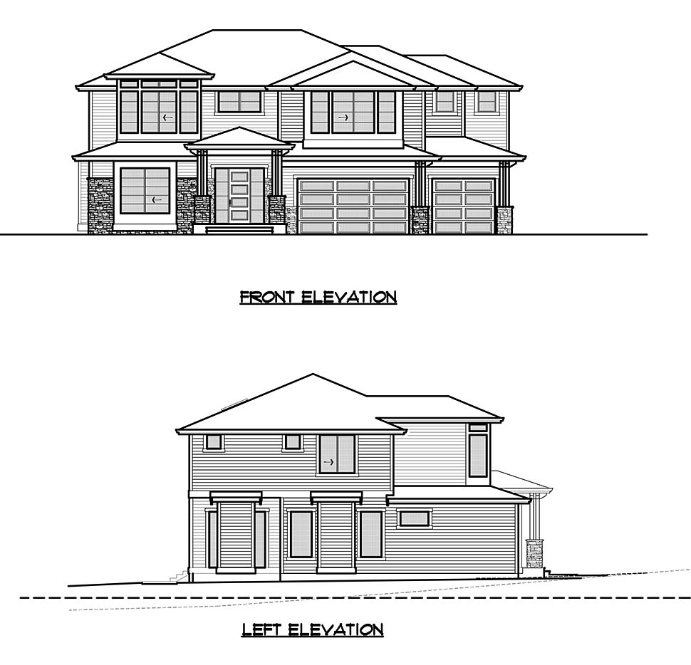 Contemporary, Modern House Plan 81942 with 4 Beds, 4 Baths, 3 Car Garage Picture 3
