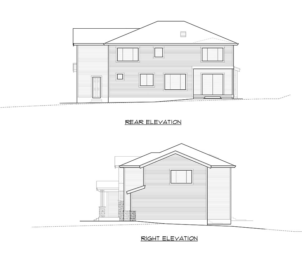 Contemporary, Craftsman, Modern House Plan 81944 with 4 Beds, 4 Baths, 3 Car Garage Picture 4