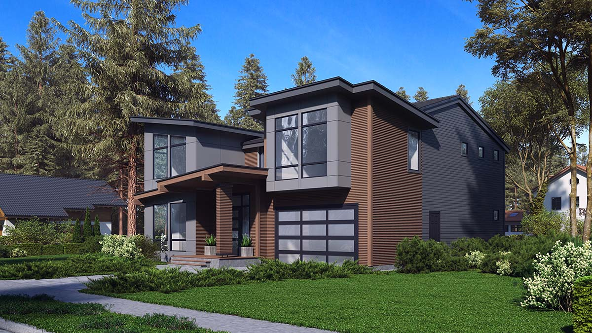 Contemporary, Modern House Plan 81946 with 3 Beds, 4 Baths, 2 Car Garage Picture 1