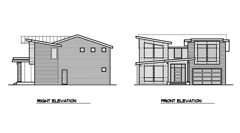 Contemporary, Modern House Plan 81946 with 3 Beds, 4 Baths, 2 Car Garage Picture 3