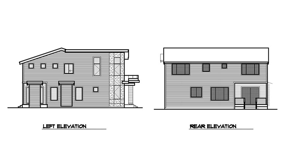 Contemporary, Modern House Plan 81946 with 3 Beds, 4 Baths, 2 Car Garage Picture 4