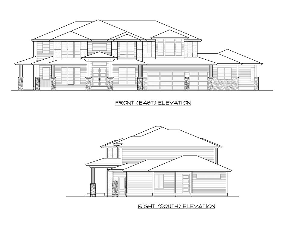 Contemporary, Modern House Plan 81953 with 6 Beds, 6 Baths, 3 Car Garage Picture 3