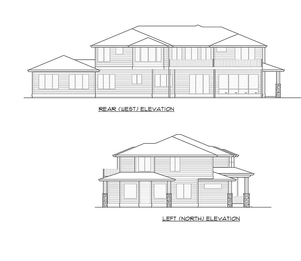 Contemporary, Modern House Plan 81953 with 6 Beds, 6 Baths, 3 Car Garage Picture 4