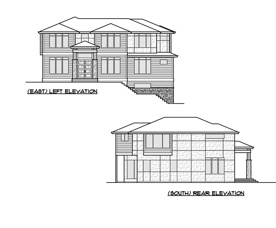 Contemporary, Modern House Plan 81954 with 5 Beds, 5 Baths, 2 Car Garage Picture 4