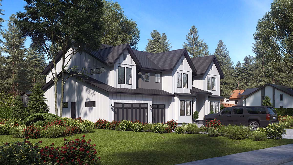 Craftsman, Farmhouse, Traditional House Plan 81956 with 5 Beds, 6 Baths, 3 Car Garage Picture 1