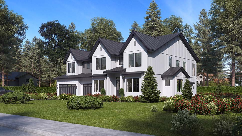 Craftsman, Farmhouse, Traditional House Plan 81956 with 5 Beds, 6 Baths, 3 Car Garage Picture 2