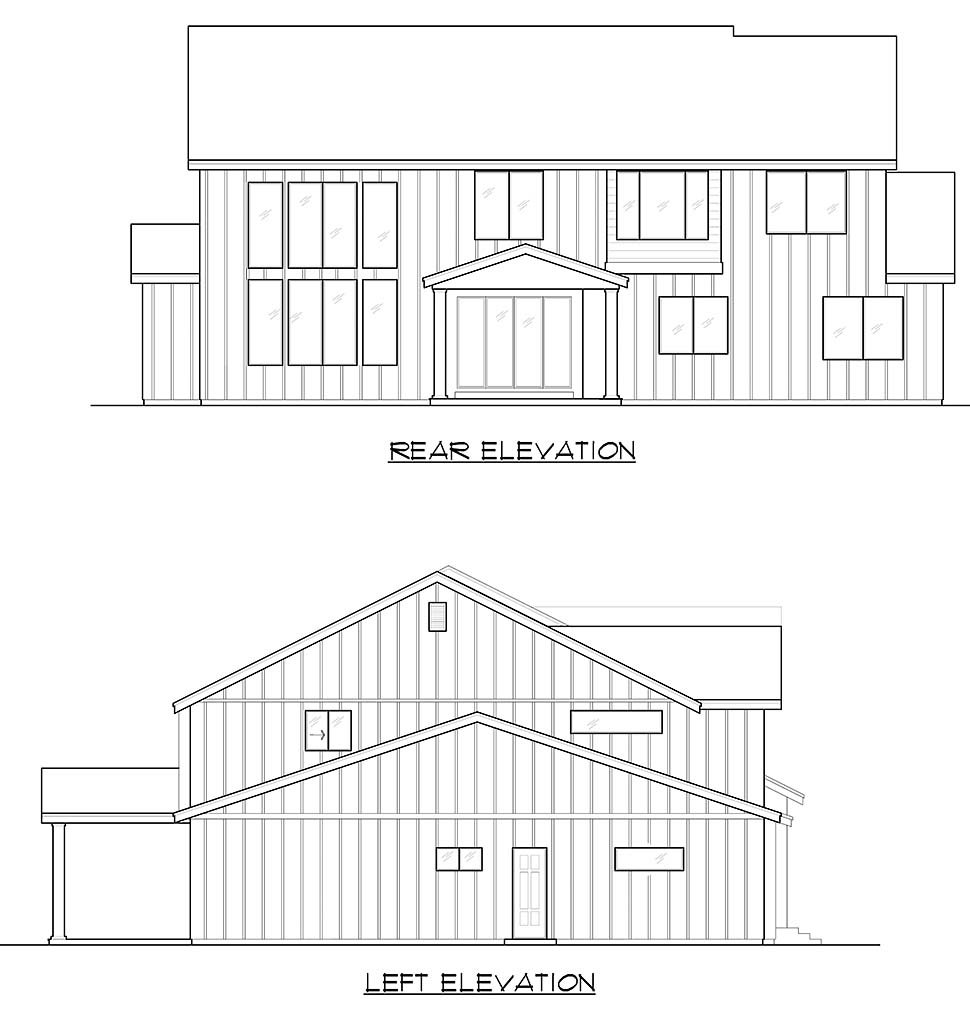 Craftsman, Farmhouse, Traditional House Plan 81956 with 5 Beds, 6 Baths, 3 Car Garage Picture 4