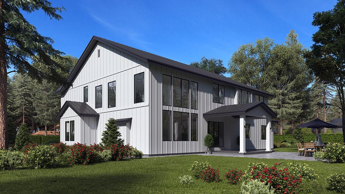 Craftsman, Farmhouse, Traditional House Plan 81956 with 5 Beds, 6 Baths, 3 Car Garage Rear Elevation