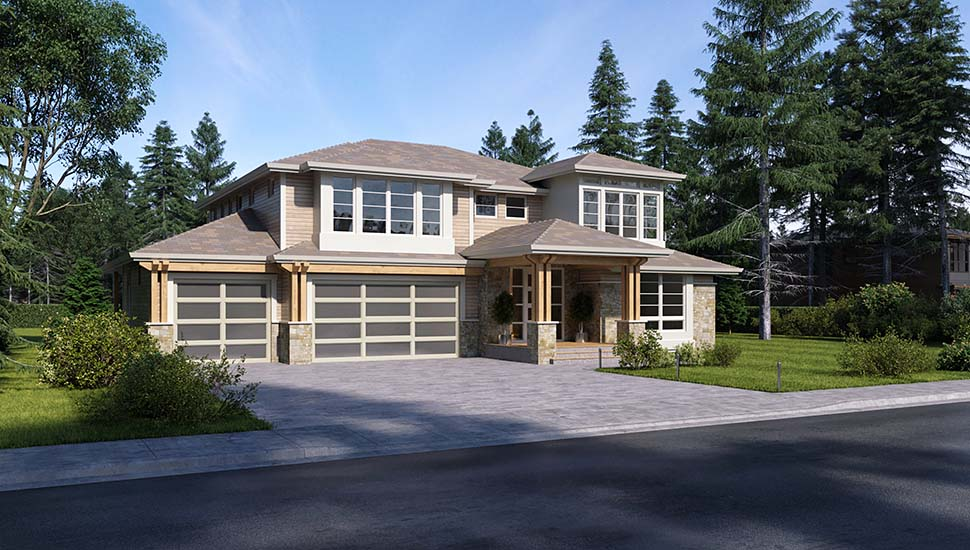 Colonial, Contemporary, Traditional House Plan 81960 with 3 Beds, 4 Baths, 3 Car Garage Picture 2