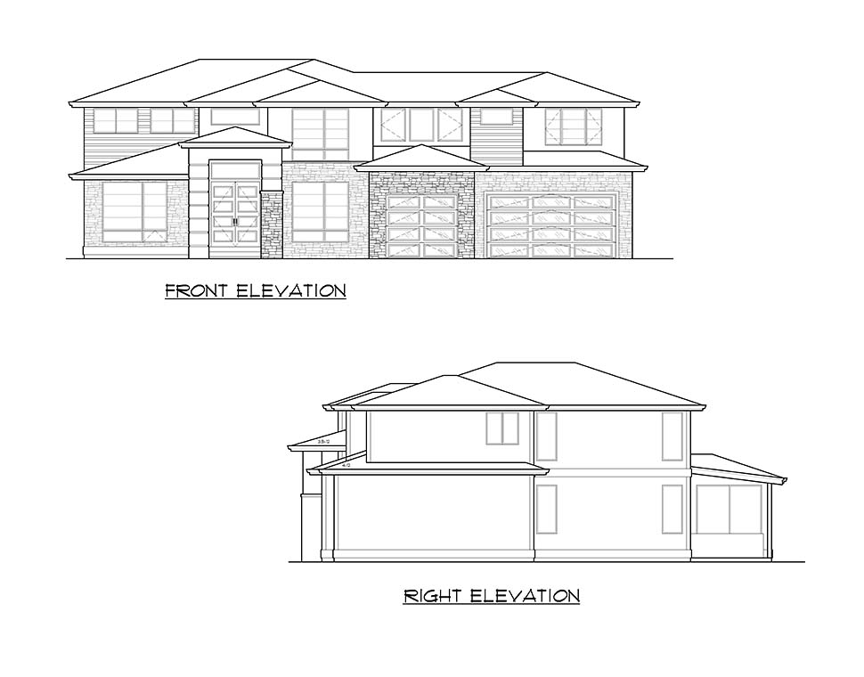 Contemporary, Modern House Plan 81961 with 4 Beds, 3 Baths, 3 Car Garage Picture 3