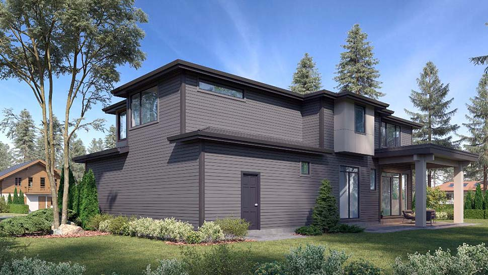 Contemporary, European House Plan 81979 with 5 Beds, 5 Baths, 3 Car Garage Picture 2