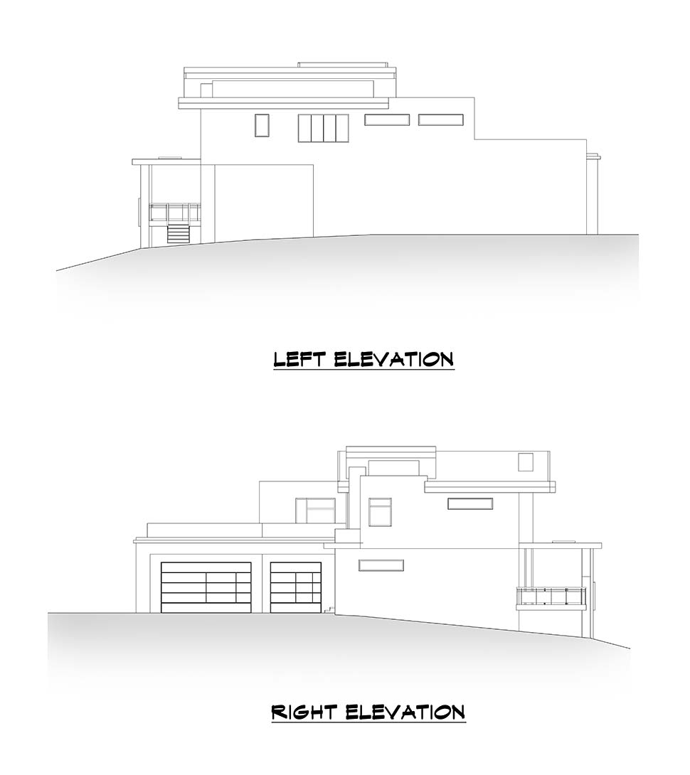 Contemporary House Plan 81990 with 4 Beds, 6 Baths, 3 Car Garage Picture 4