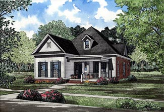Country House Plan 82016 with 3 Beds, 2 Baths, 2 Car Garage Elevation