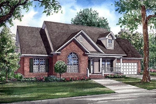 Country, Traditional House Plan 82078 with 3 Beds, 2 Baths, 2 Car Garage Elevation
