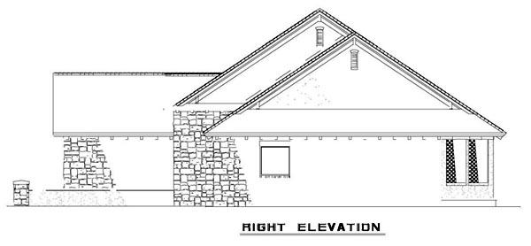 Craftsman, Italian, Mediterranean House Plan 82113 with 3 Beds, 2 Baths, 2 Car Garage Picture 9