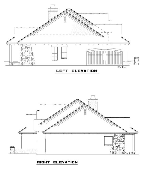 Mediterranean House Plan 82133 with 4 Beds, 3 Baths, 2 Car Garage Picture 1