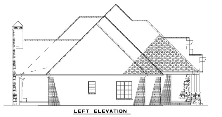 Craftsman, European House Plan 82162 with 3 Beds, 4 Baths, 3 Car Garage Picture 1