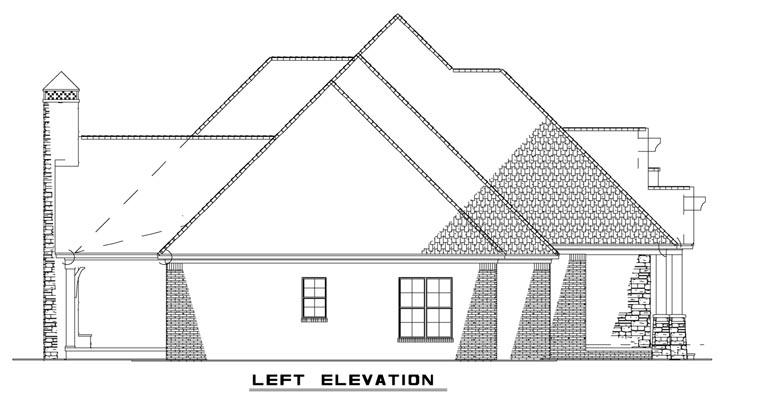 Craftsman, European House Plan 82162 with 3 Beds, 4 Baths, 3 Car Garage Picture 1