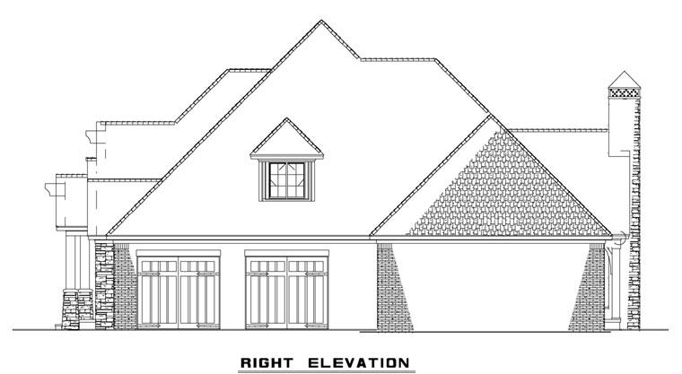 Craftsman, European House Plan 82162 with 3 Beds, 4 Baths, 3 Car Garage Picture 2