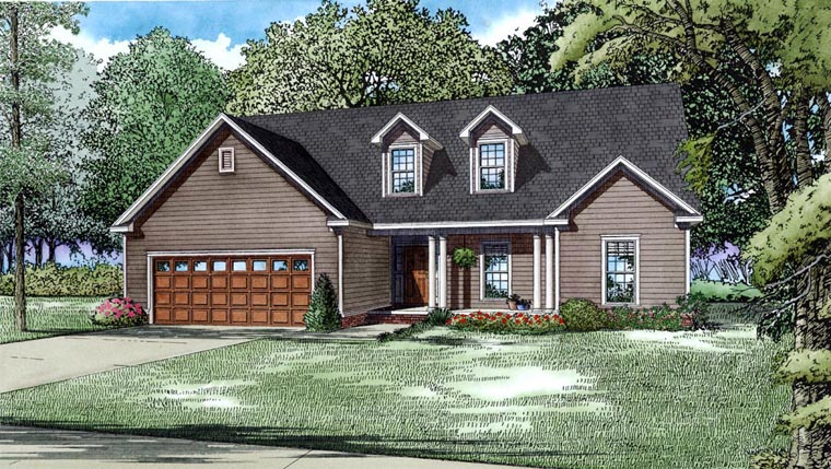 House Plan 82185 with 3 Beds, 3 Baths, 2 Car Garage Elevation
