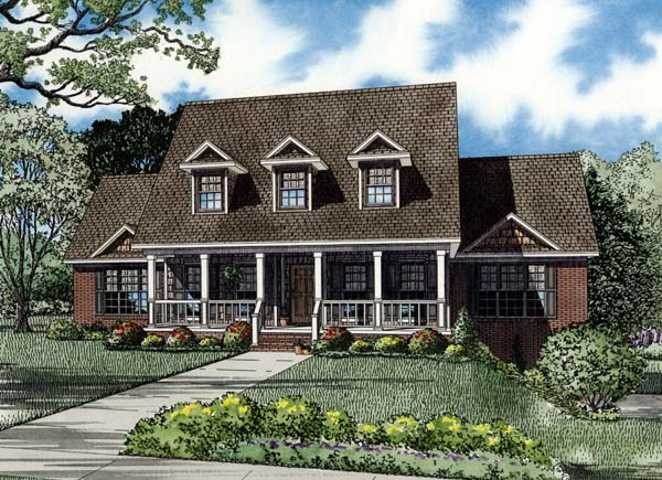 House Plan 82194 with 4 Beds, 2 Baths, 3 Car Garage Elevation