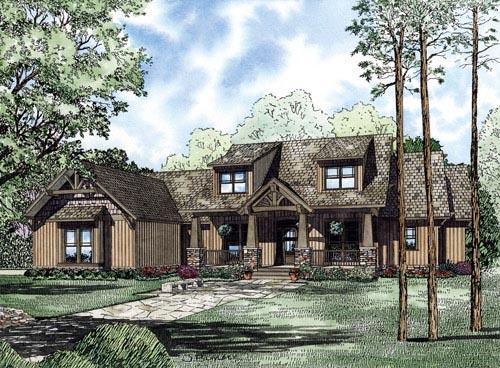 Craftsman, Ranch House Plan 82222 with 7 Beds, 6 Baths, 3 Car Garage Elevation