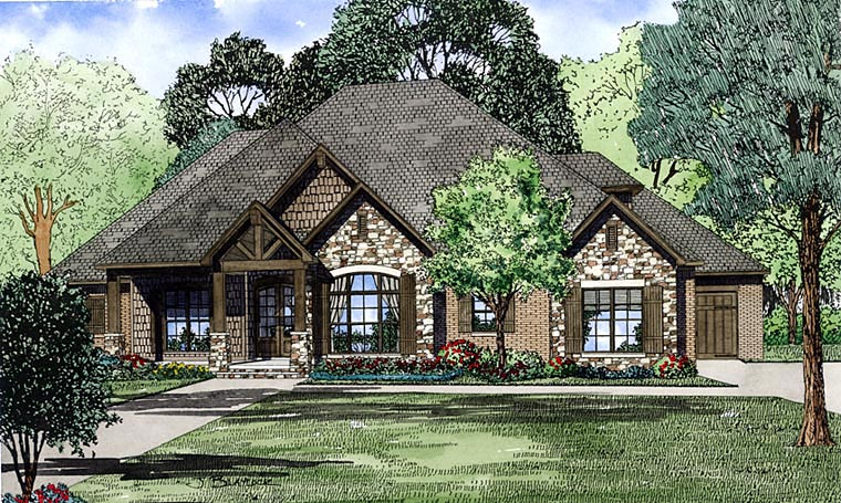 Craftsman, European House Plan 82230 with 4 Beds, 4 Baths, 3 Car Garage Picture 36