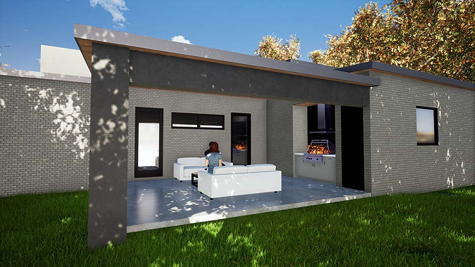 Contemporary, Modern House Plan 82411 with 3 Beds, 3 Baths, 2 Car Garage Picture 2