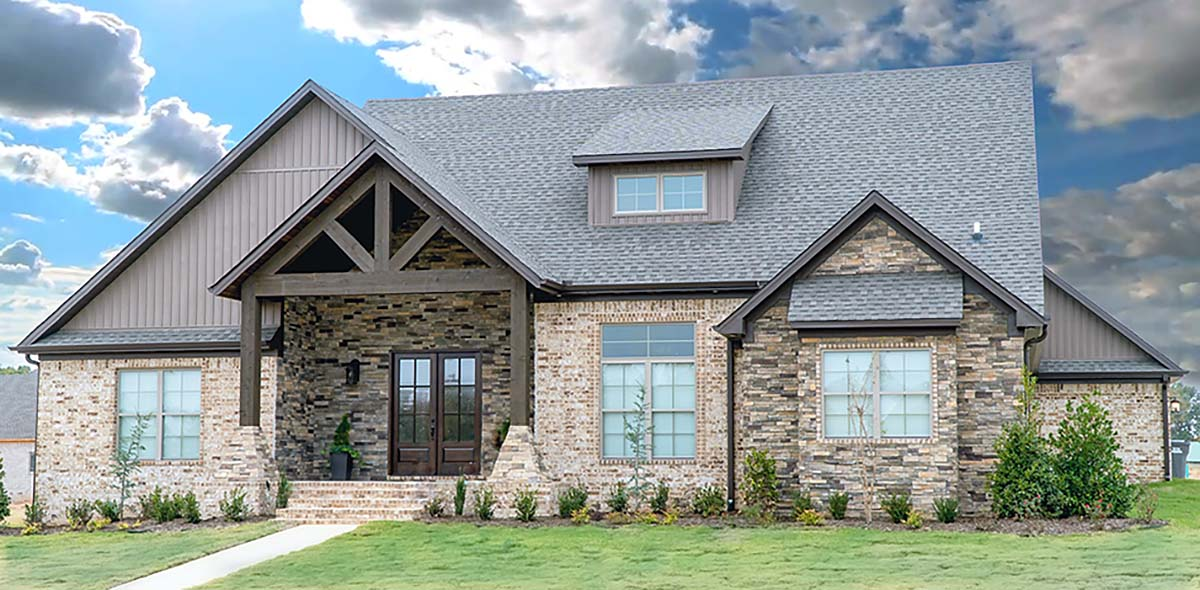Bungalow, Cottage, Country, Craftsman House Plan 82431 with 5 Beds, 4 Baths, 2 Car Garage Elevation