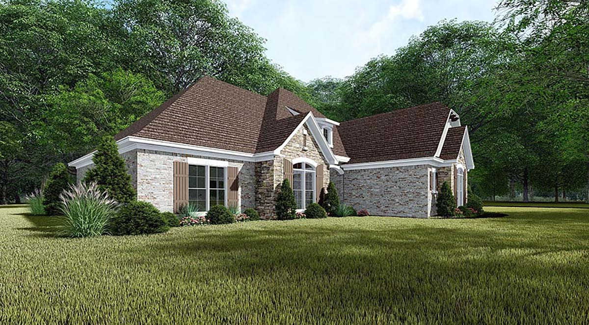 European, French Country, Traditional House Plan 82465 with 4 Beds, 3 Baths, 3 Car Garage Picture 2