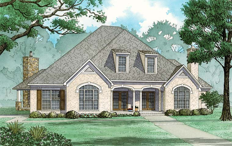 European, French Country, Traditional House Plan 82485 with 5 Beds, 6 Baths, 3 Car Garage Front Elevation