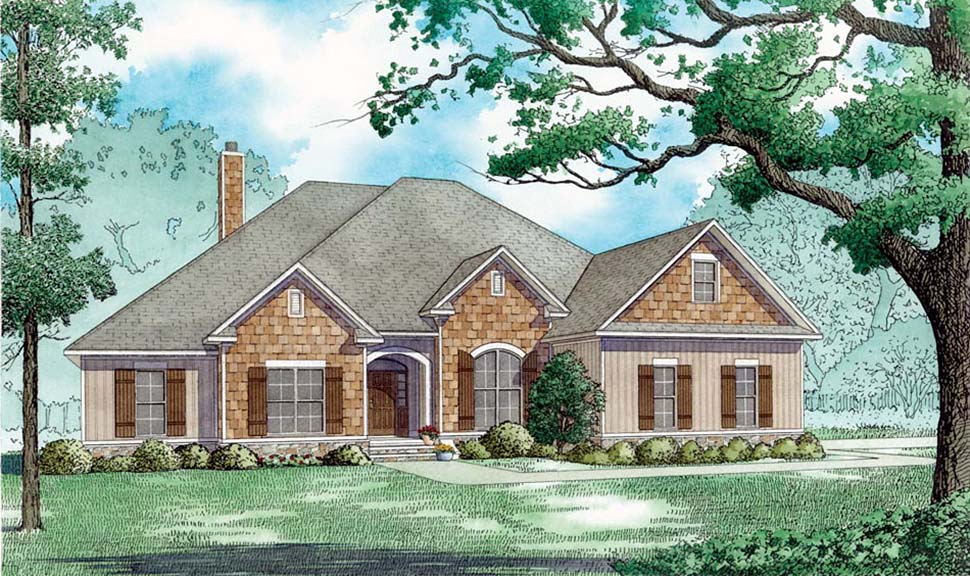 European, Traditional House Plan 82486 with 4 Beds, 3 Baths, 2 Car Garage Front Elevation