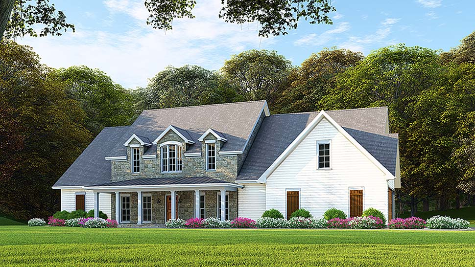 Cottage, Country, Southern House Plan 82503 with 6 Beds, 4 Baths, 2 Car Garage Front Elevation