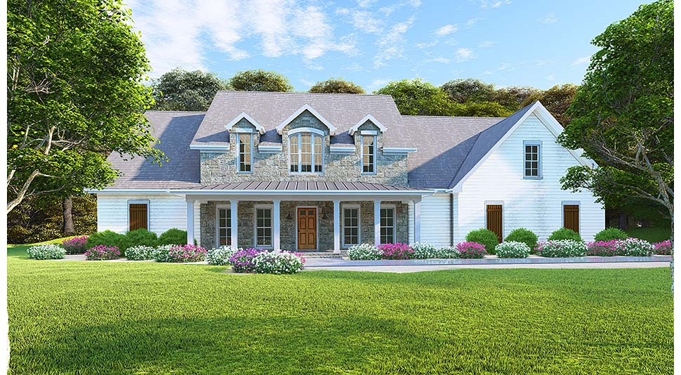Cottage, Country, Southern House Plan 82503 with 6 Beds, 4 Baths, 2 Car Garage Picture 1