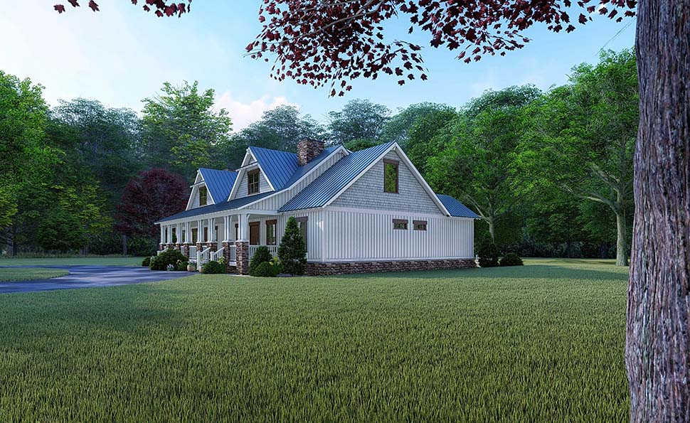 Bungalow, Country, Craftsman, Farmhouse Multi-Family Plan 82524 with 4 Beds, 3 Baths Picture 1