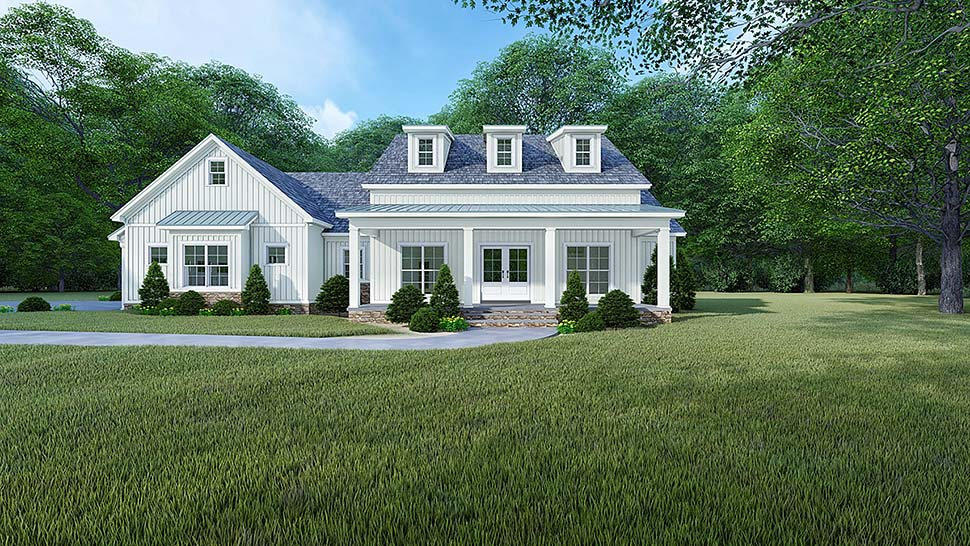 Bungalow, Country, Craftsman, Farmhouse, Modern, Traditional House Plan 82525 with 4 Beds, 4 Baths, 2 Car Garage Elevation