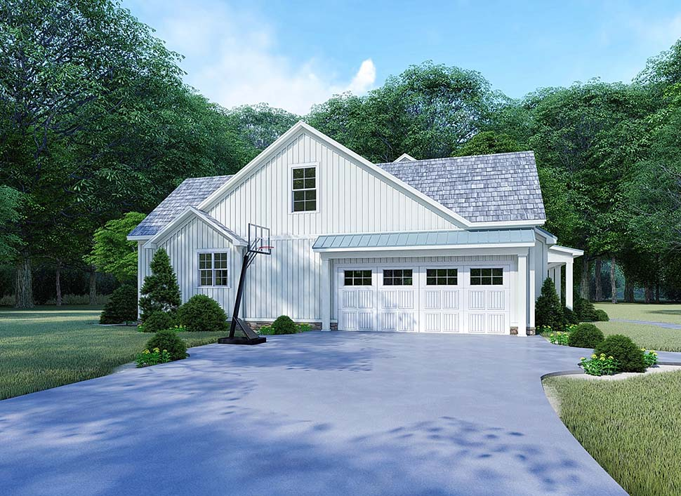 Bungalow, Country, Craftsman, Farmhouse, Modern, Traditional House Plan 82525 with 4 Beds, 4 Baths, 2 Car Garage Picture 2