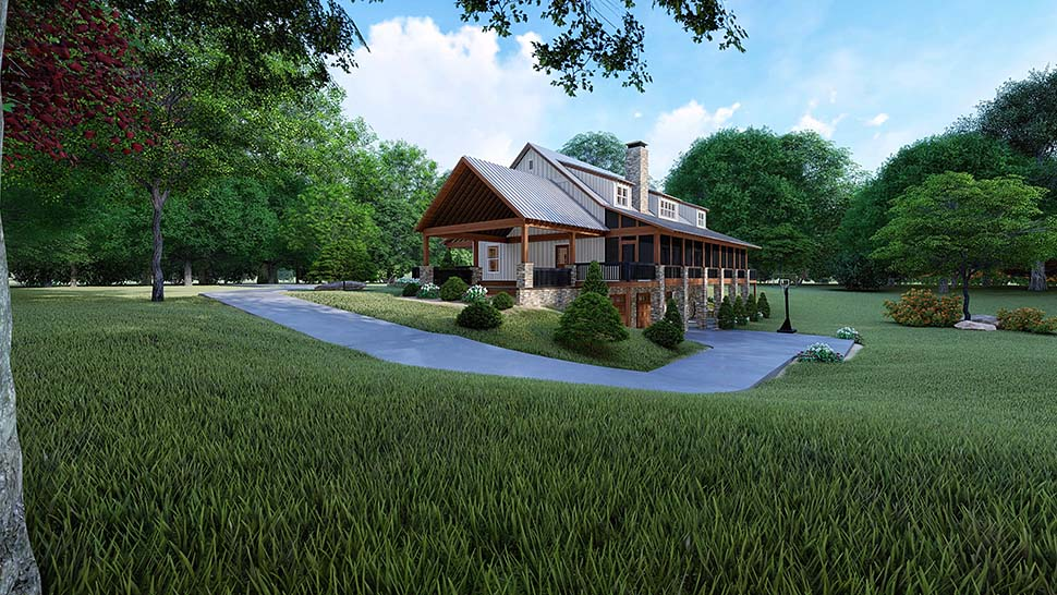 Farmhouse House Plan 82526 with 3 Beds, 4 Baths, 2 Car Garage Picture 1
