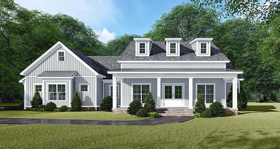 Bungalow, Country, Craftsman, Farmhouse House Plan 82533 with 3 Beds, 3 Baths, 2 Car Garage Picture 3