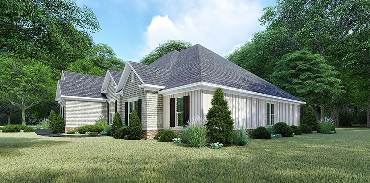 Bungalow, Craftsman, French Country, Traditional House Plan 82547 with 4 Beds, 4 Baths, 2 Car Garage Picture 1