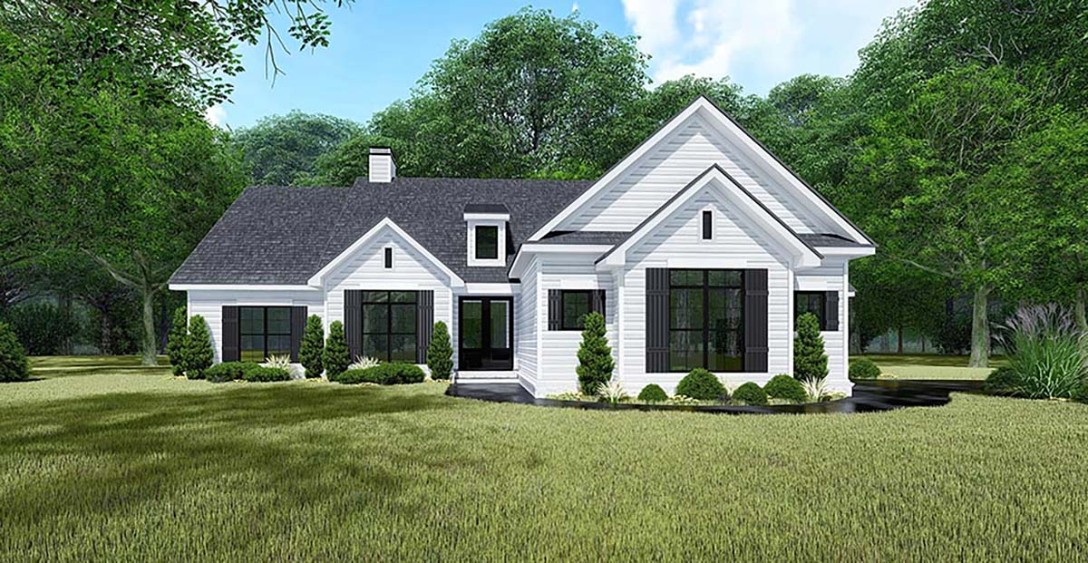 Bungalow, Craftsman, Farmhouse, Traditional House Plan 82550 with 4 Beds, 3 Baths, 3 Car Garage Elevation
