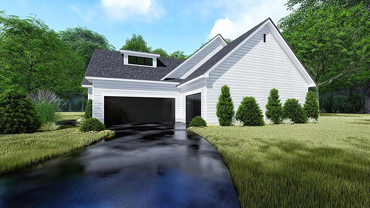 Bungalow, Craftsman, Farmhouse, Traditional House Plan 82550 with 4 Beds, 3 Baths, 3 Car Garage Picture 1