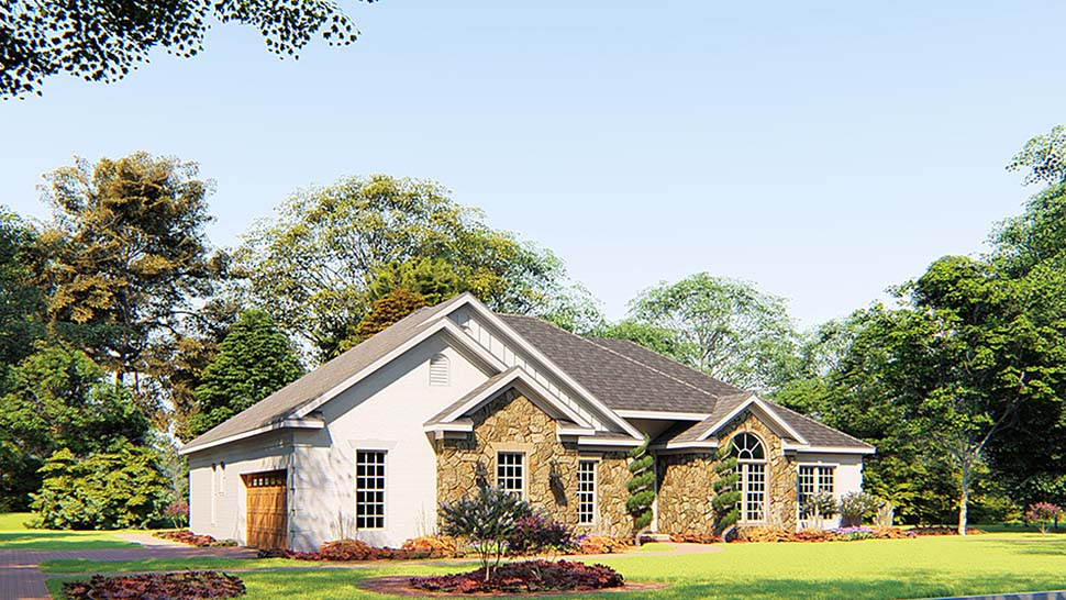 Bungalow, Craftsman, French Country, Traditional House Plan 82556 with 4 Beds, 3 Baths, 2 Car Garage Picture 2