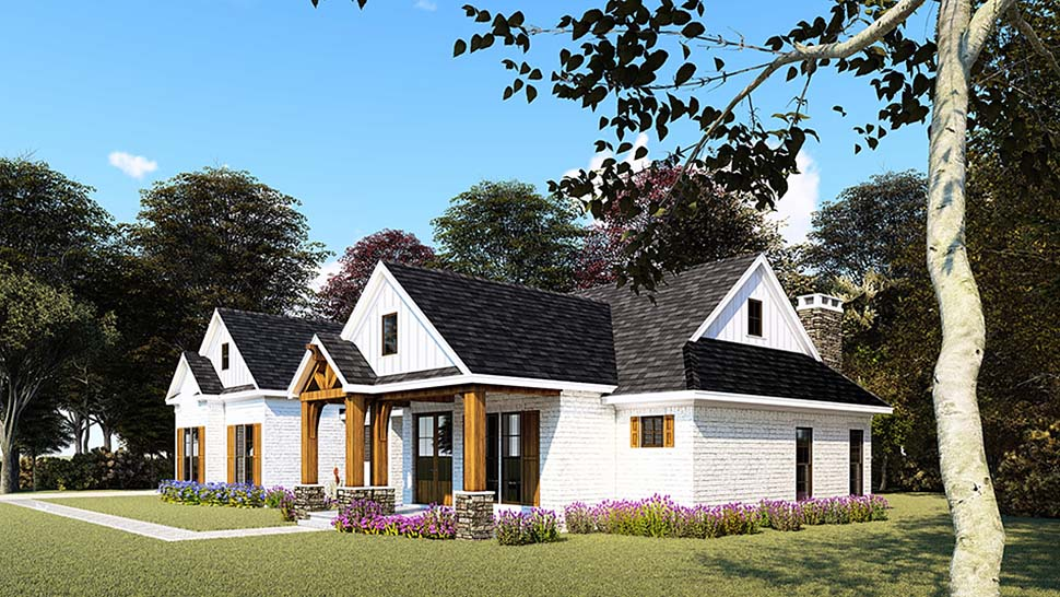 Bungalow, Craftsman, Farmhouse, One-Story House Plan 82557 with 3 Beds, 4 Baths, 2 Car Garage Picture 1
