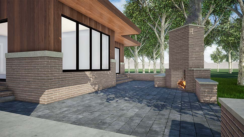 Contemporary, One-Story, Prairie House Plan 82559 with 3 Beds, 3 Baths, 2 Car Garage Picture 4