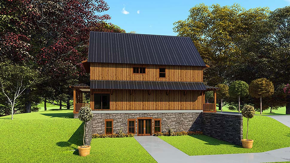 Bungalow, Cabin, Country, Craftsman House Plan 82566 with 5 Beds, 4 Baths Picture 2