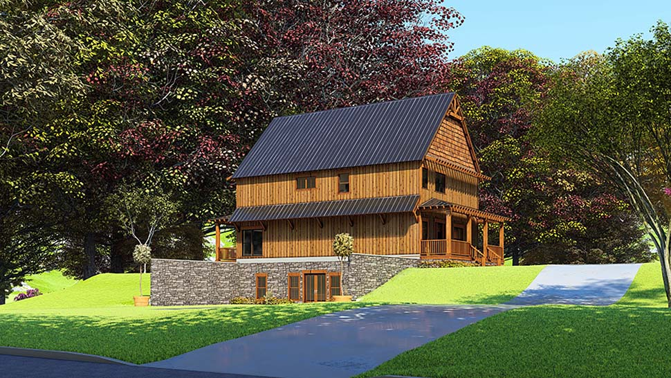 Bungalow, Cabin, Country, Craftsman House Plan 82566 with 5 Beds, 4 Baths Picture 3