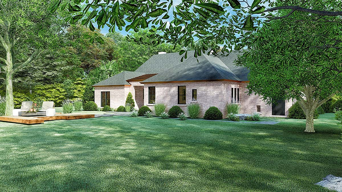 Cottage, European House Plan 82570 with 4 Beds, 3 Baths, 2 Car Garage Picture 2